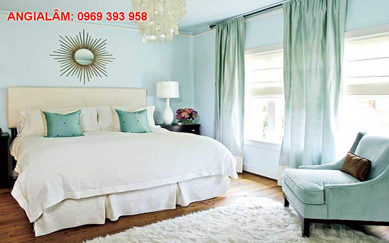 sơn phòng khách màu xanh ngọc