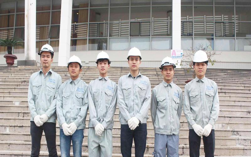 đội ngũ thợ sửa chữa nhà tại công ty an gia lâm