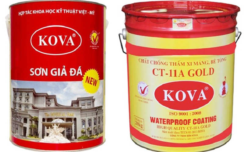 các hãng sơn nước nổi tiếng Kova