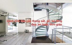 cách tính làm cầu thang sắt đẹp