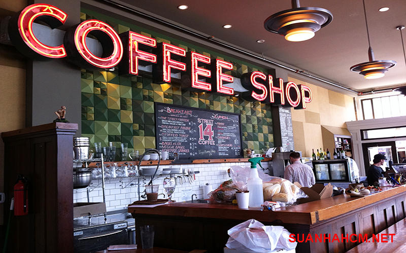 thiết kế thi công quán coffee
