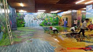 giá sơn tường 3d