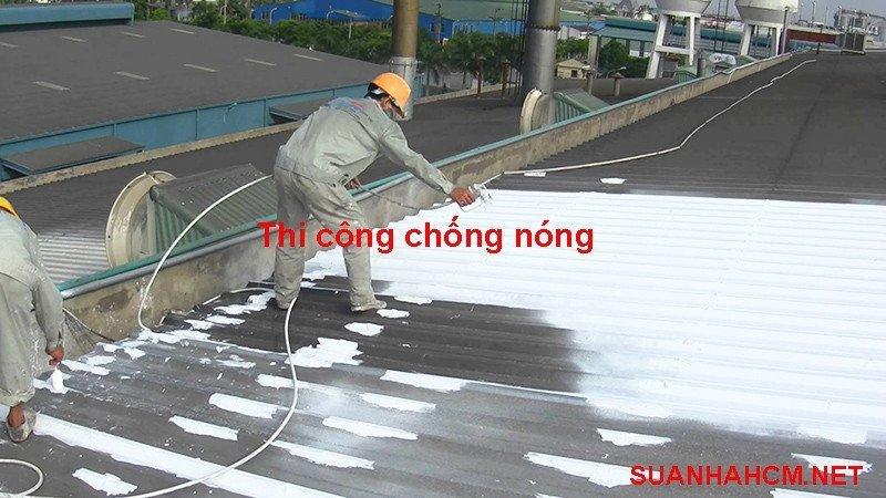 giá thi công sơn chống nóng
