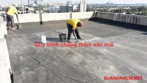 quy trình chống thấm sàn mái
