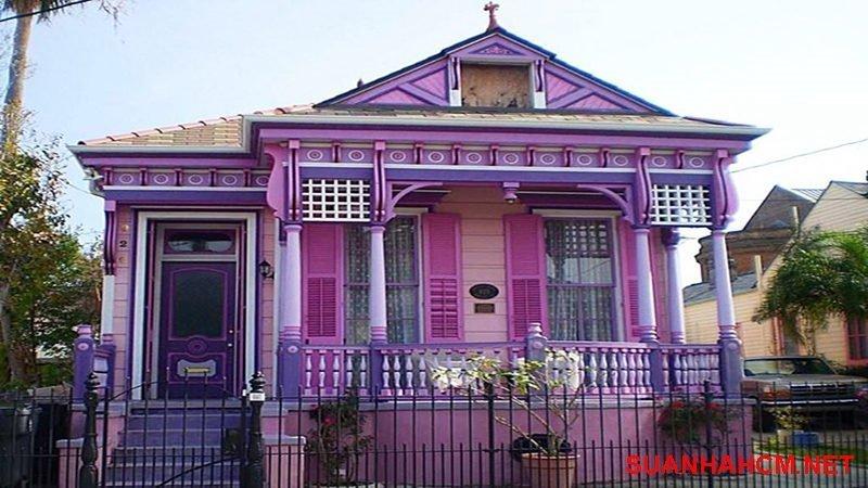 sơn mặt tiền nhà