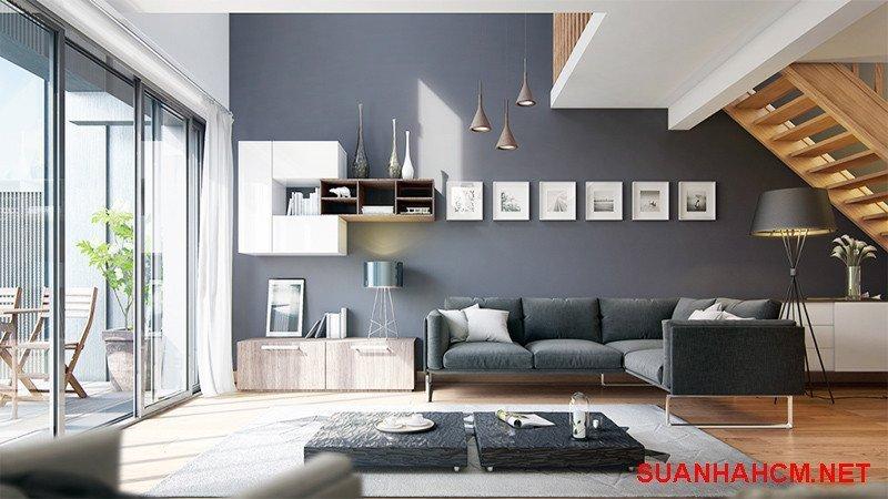 sơn nội thất màu ghi xám