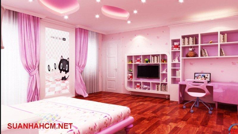 sơn phòng ngủ cho bé gái
