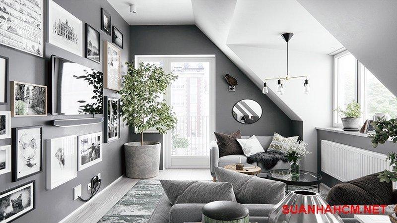 sơn tường nhà màu bạc kim