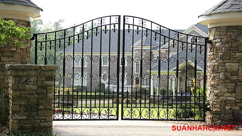 cổng nhà đẹp 2 cánh