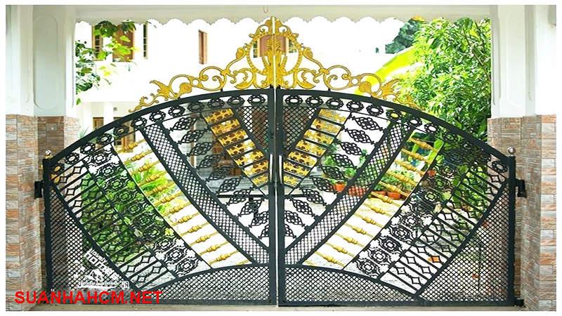 mẫu cổng kiểu cổ điển đẹp