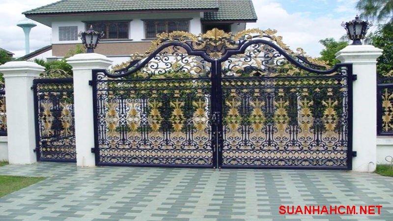 mẫu cổng nhà đẹp 2020