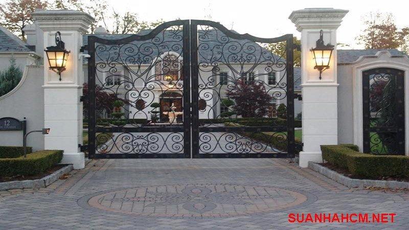 mẫu cổng sắt nghệ thuật