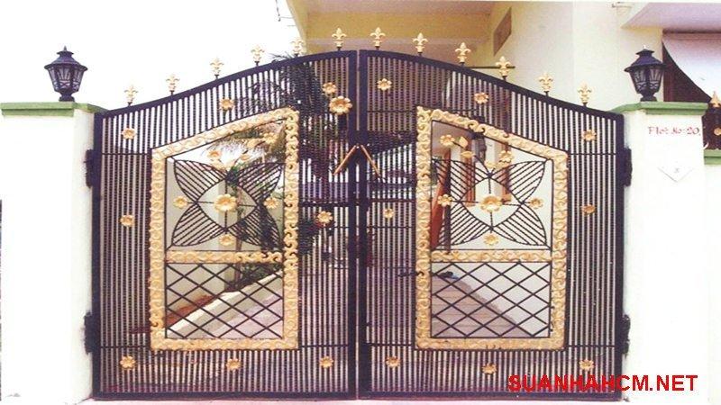 mẫu cổng sắt nhà đẹp