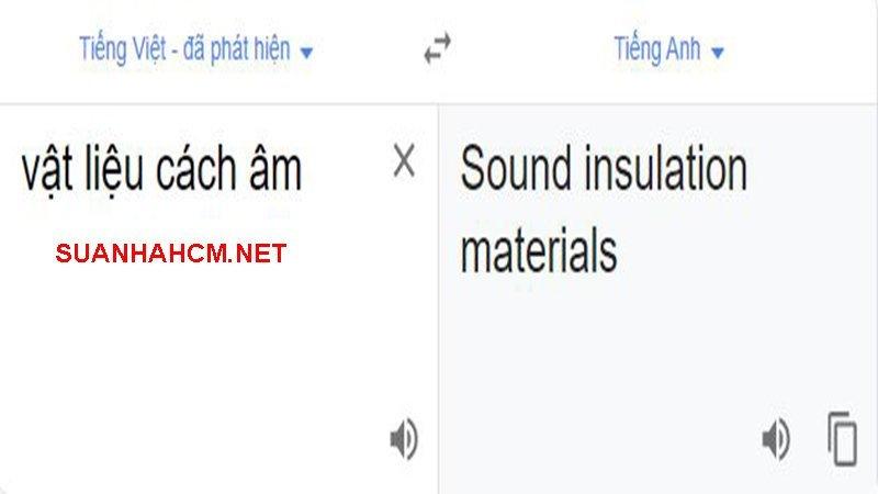 vật liệu cách âm tiếng anh là gì