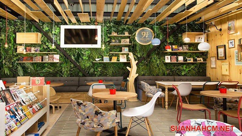 cách trang trí quán cafe trong nhà