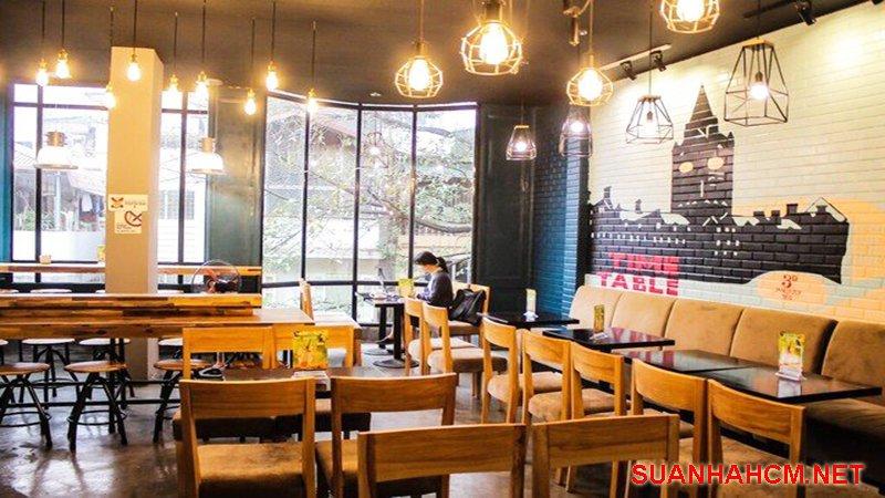 trang trí quán cafe với đèn led