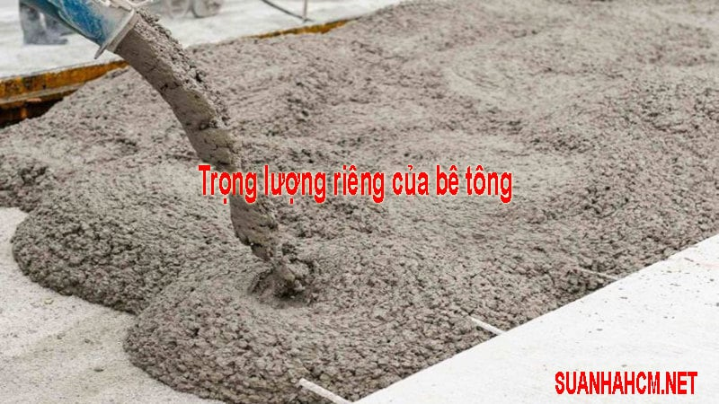 Trọng lượng riêng của bê tông